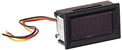 """DROK® Small Little DC Digital Voltmeter 2-Wire 0.56"""" DC 3-30V Green Bright LED Car Motor Panel Mount Voltage Meter 5V 12V 24V 27V Solar Battery Volt Accurate Power Monitor Gauge"""