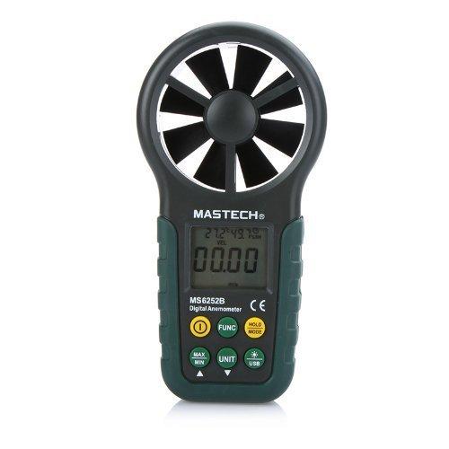 Cimic Anemómetro Digital portátil Portátil LCD Electrónico Viento Velocidad Medidor de medición de Volumen de Aire con...