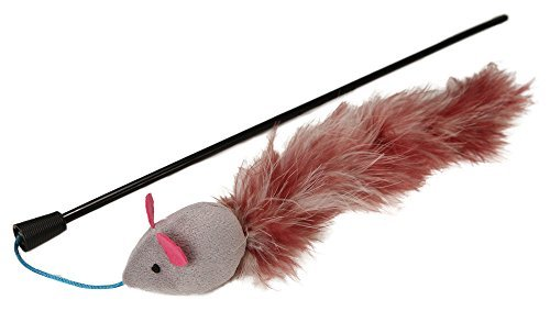 Petlinks Teezer Tail Wand with Feathers and Crinkle Sounds by Petlinks
