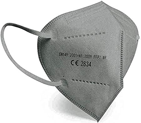 Pack de 10 ud Mascarilla ffp2 de colores con marcado CE según Norma Europea EN 149:2001+A1:2009 (10 ud Gris)