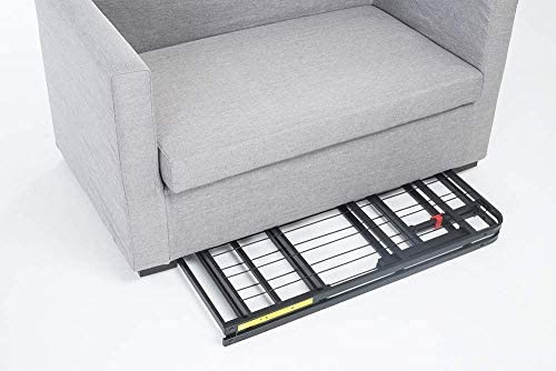 Amazon Basics Foldable, 14″ Metal Platform Bed Frame with Tool-Free Assembly, No Box Spring Needed – Twin 41V7Wnaa76L