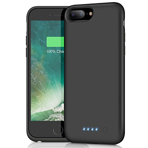 iPhone 8 Plus 7 Plus Battery Case, iPosible 8500mAh Rechargeable Battery Pack Charging Case for iPhone 7 Plus/8Plus (5.5 inch) Extended Battery Power Bank Portable Charger Case Ultra Slim-Black by iPosible