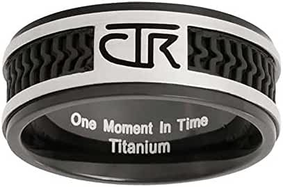 CTR Choose the Right Ring Black Titanium With Rubber Inlay