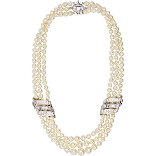 - Grace Kelly Collection Triple Strand Pearl Wedding Necklace (19.00)