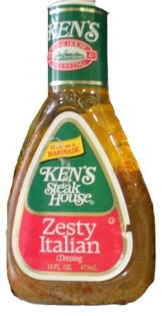 Ken's Steak House Zesty Italian Salad Dressing 16 oz (3 pack)