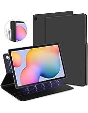 CACOE Etui kompatybilne z Samsung Galaxy Tab S6 Lite, ultracienkie etui ochronne z inteligentną osłoną magnetyczną i uchwytem na długopis i funkcją budzenia dla tabletu Samsung S6 Lite o przekątnej ekranu 10,4 cala 2020, czarne
