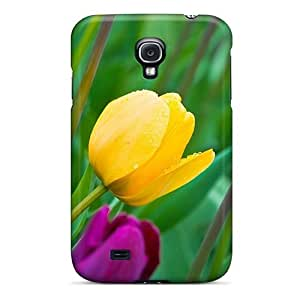 Durable Wet Tulips Back Case/cover For Galaxy S4
