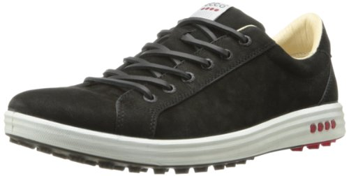 ECCO Men's Street EVO Plain Toe Golf Shoe,Black,41 EU/7-7.5 M US (Camel Golf Shoe)