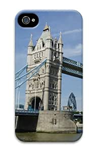Iphone 4 4s 3D PC Hard Shell Case London Tower Bridge by Sallylotus