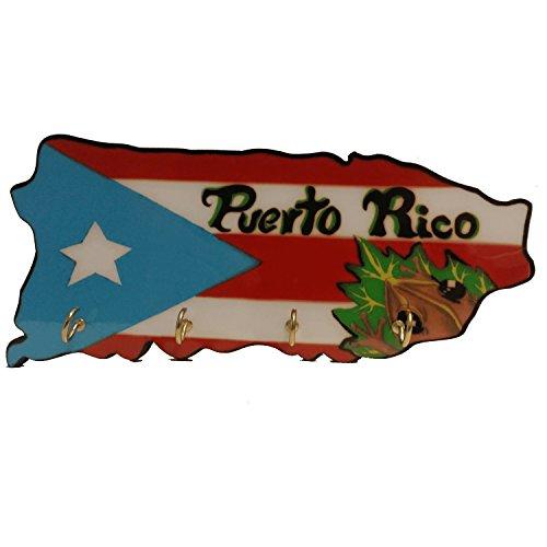 Key Holder Puerto Rico Map Coqui