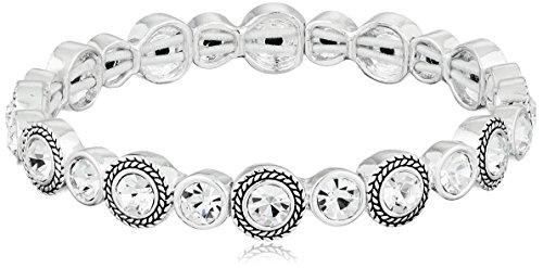 """Napier """"Classics"""" Silver-Tone Stretch Bracelet"""