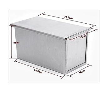 Kingstons - Caja rectangular de aluminio para hornear pan de molde, con tapa: Amazon.es: Bricolaje y herramientas