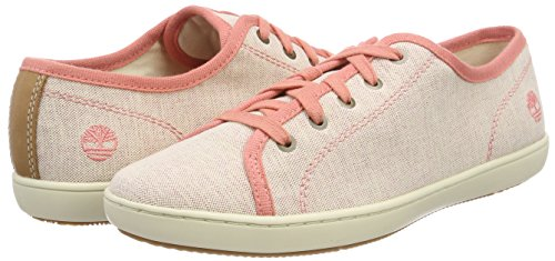 Canvas Timberland Canvas Richelieus crabapple Mayport Tan Rose K41 Femme With Natural SWCp6F7W