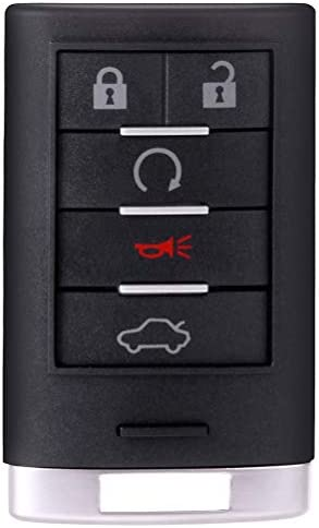 TUPARTS 2 X Keyless Entry Remote Car Key Fob Compatible for 05-07 Cadillac CTS Car Keyless Entry Remote Replacement for ADP05724518S