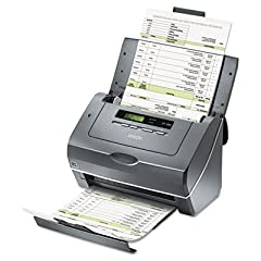 This hard-working scanner will help you achieve maximum productivity with its 25ppm, 50 ipm scan speeds and duplex scanning in just one pass. 75-page auto document feeder allows for multiple document scanning without constant supervision. You...