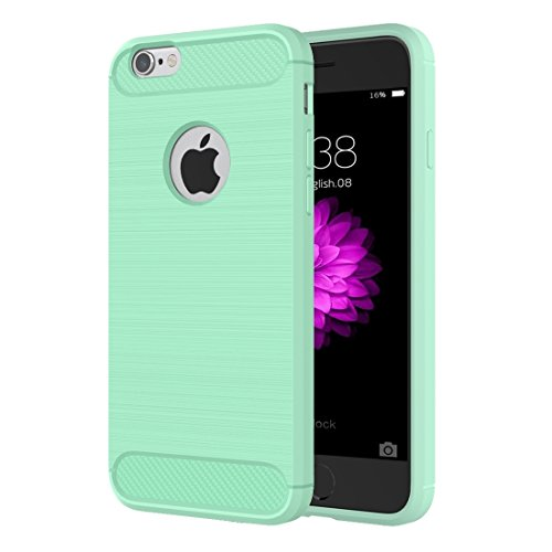 Phone Taschen & Schalen Für iPhone 6 Plus & 6s Plus Brushed Texture Fiber TPU Rugged Armor Schutzhülle ( Color : Green )