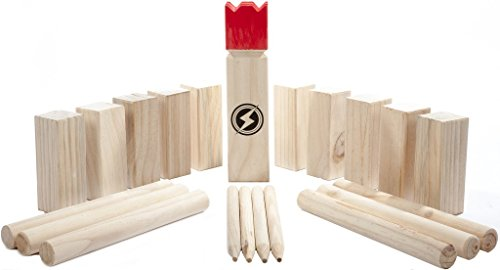 Kubb Set - Award Winning Outdoor Lawn Game - Party/Backyard Game Set