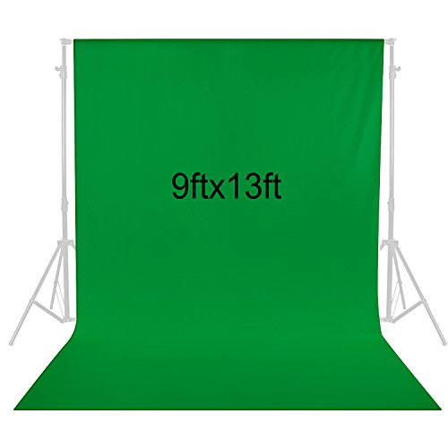 Neewer 9 x 13 feet/2.8 x 4 meters Photography Background Photo Video Studio Fabric Backdrop Background Screen (Green) by Neewer