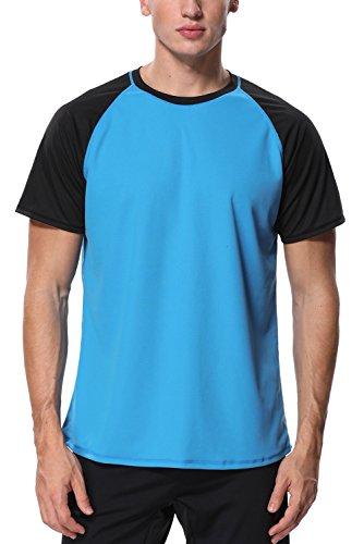 Vegatos Men Surf Swim Shirts Short Sleeve Rashguard UV Swim Tee Swimwear Tops