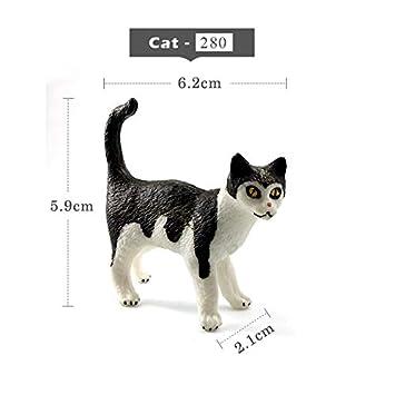 Miniature Dollhouse FAIRY GARDEN Accessories ~ Small Standing Black /& White Cat