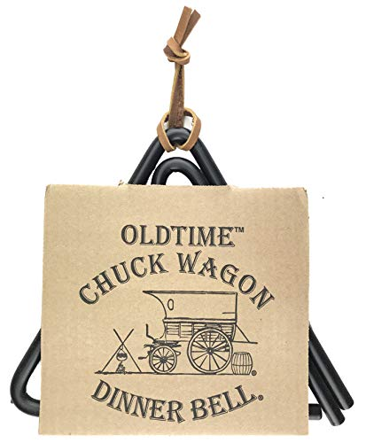 Old Fashioned Western Chuck Wagon Style Hanging Dinner Bell
