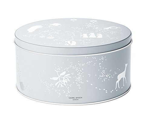Georg Jensen December Tales The Family Cookie Tin With 5 Cookie Cutters - Christmas Nativity