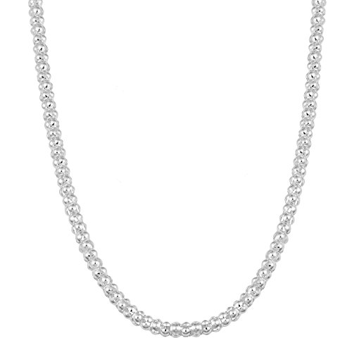 - Kooljewelry Sterling Silver 3 mm Coreana Chain Necklace (20 inch)