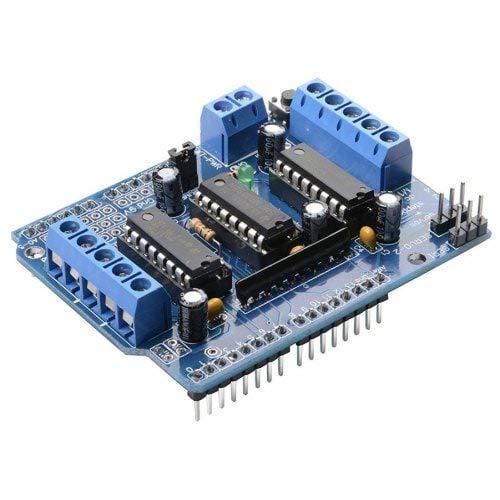 HaiM L293D Motor Drive Shield For Arduino Duemilanove Mega R3 AVR ATMEL - Blue ()