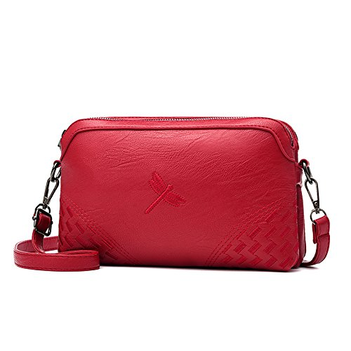 GUANGMING77 _Schulter Schulter Tasche Dragonfly Red qKvDgBf