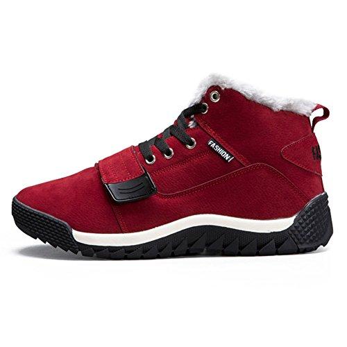 Hommes Hiver Des Sports Chaussures Espadrille Hommes Des Chaussures d'Hiver Chaud Doublé Bottes Baskets Haut-Haut De Plein Air Trekking Chaussures Chaussures Décontractées Bottes De Marche EU 39-44