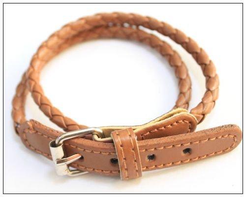 Bonamart Korean Fashion Leather Double Wrap Belt Bracelet Brown