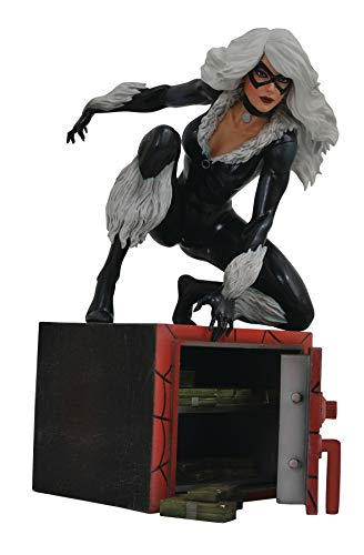DIAMOND SELECT TOYS OCT182225 Marvel Gallery, Black Cat PVC Figure, Multicolor ()