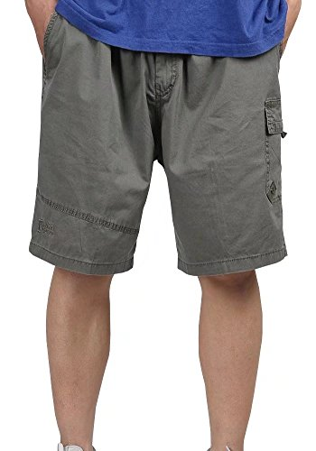 Wxian Men's Men's Loose and Comfortable Large Size Multi-Pocket Cargo Shorts