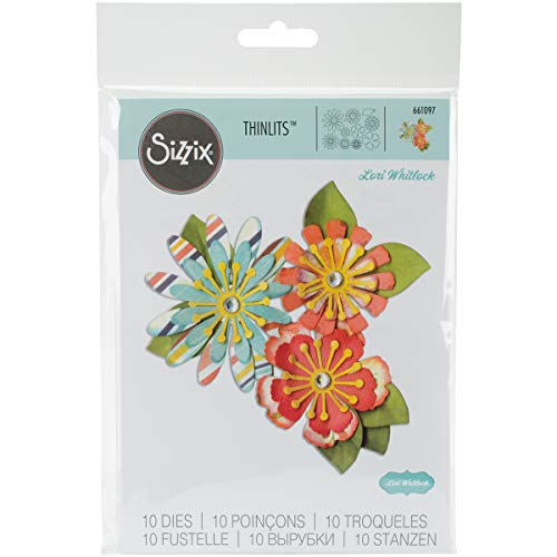 (Sizzix Thinlits Die Set, Mix & Match Flowers by Lori Whitlock, 10-Pack)