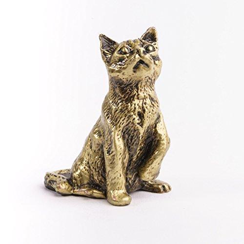 (Handmade Bronze Patina Cat)