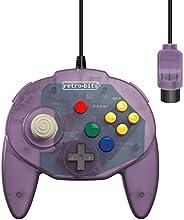 Retro-Bit Tribute 64 Wired N64 Controller for Nintendo 64 - Original Port - (Atomic Purple)