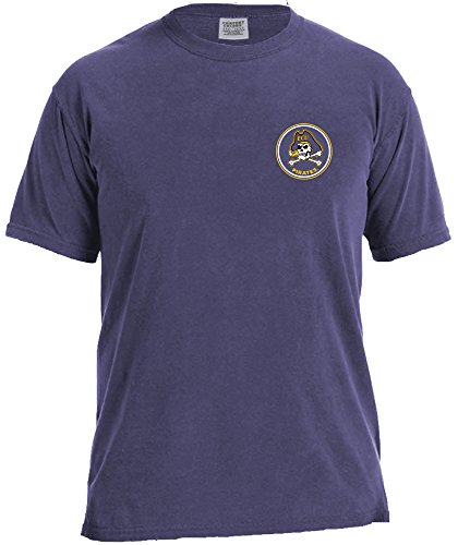 NCAA East Carolina Pirates Rounds Short Sleeve Comfort Color Tee, Small,Grape