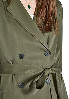Jack Wills Womens Malmsbury Fluid Belted Trench Coat