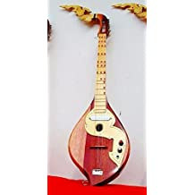 Isarn Acoustic Electric Phin 3 Strings, Thai Lao Guitar Musical Instrument, Traditional Thai Musical Pin 03-1