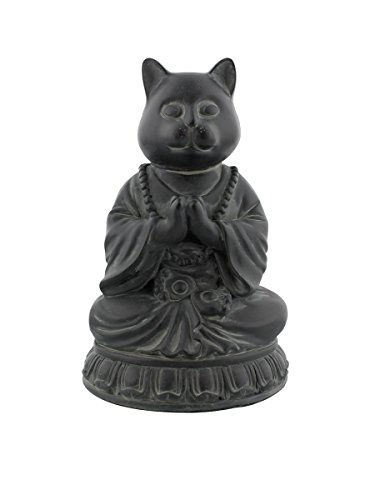 Cat Buddha Meditating Statue Eastern Enlightenment Masterpiece by Pacific Trading ()