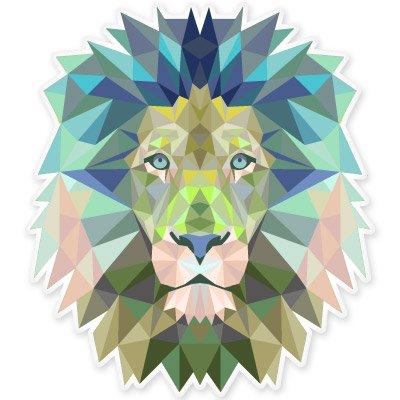 Lion Modern Art Design Vinyl Sticker - Car Window Bumper Laptop - SELECT SIZE (Art Design Sticker)