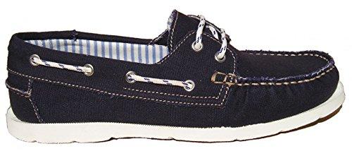 tamaño Barco La Vermont De Lona Lona Hombre La Del 39 Azul Zapatos Color De Blueport aPBq1Tn1