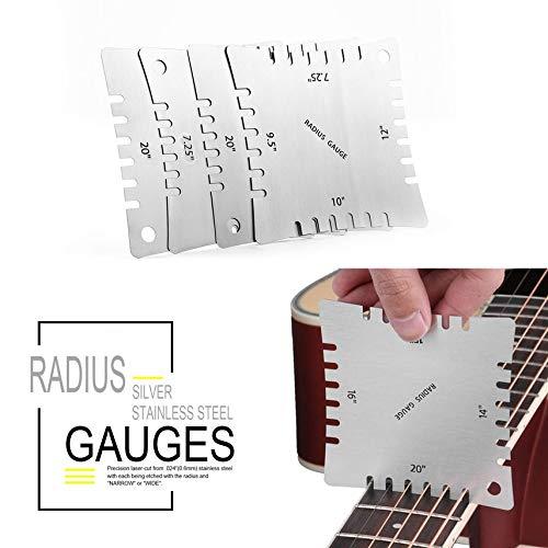 shuaishuang573 4pcs Gitarre Kerb-Radius Spur Griffbrett Griffbrett Messen Werkzeug-Set