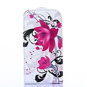 DUR Purple Flower Pattern Leather Hard Case for Samsung Galaxy Trend Lite7390/7392