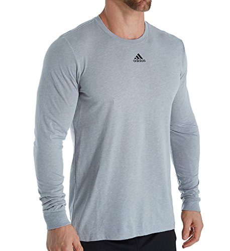Adidas Go To Performance Long Sleeve Tee XXXL Medium Grey Heathered