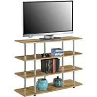 Convenience Concepts Designs2Go Highboy TV Stand, X-Large, Light Oak