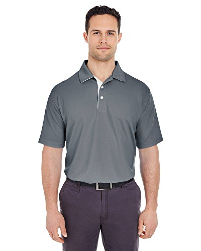 (Ultraclub Platinum Performance Birdseye Polo with TC Tech 8325 -Charcoal 2XL )