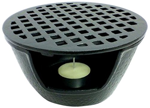 JapanBargain S-1988, Cast Iron Teapot Warmer 5.5 inches Black