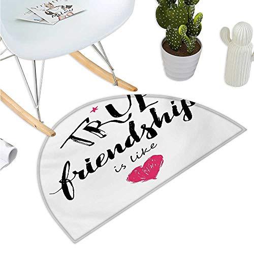 Quote Half Round Door mats True Friendship is