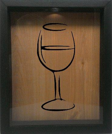 wine bottle box glass - 9
